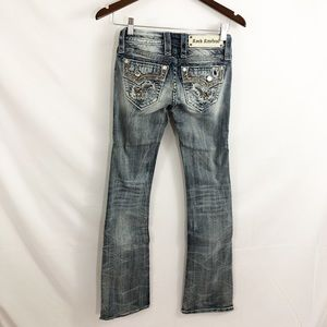 Rock Revival Rock Rhinestone Accented Jeans 23 NWT